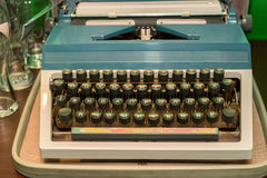 Old vintage typewriter with Cyrillic font Stock Photography