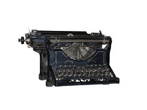 Old vintage typewriter isolated over white Royalty Free Stock Photography