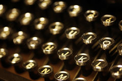 Old vintage typewriter keys Royalty Free Stock Image