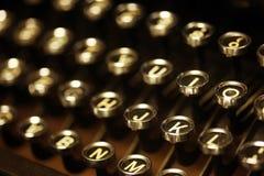 Old vintage typewriter keys Royalty Free Stock Image