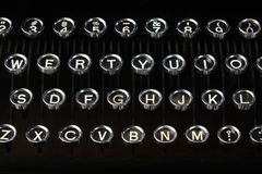 Old vintage typewriter keys Royalty Free Stock Photo