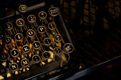Old vintage typewriter machine Stock Image