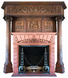 Old Vintage Victorian Fireplace Isolated Stock Photography