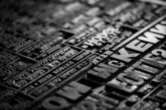 Old Vintage Victorian Newspaper Book Printing Press Background Royalty Free Stock Photos