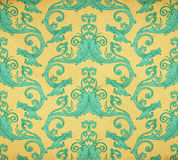 Old vintage victorian wallpaper Stock Photo