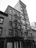 Old vintage view on new york residential place Royalty Free Stock Image