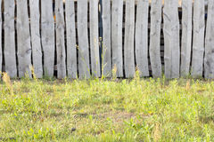 Old vintage village wooden fence Royalty Free Stock Image