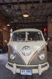 Old vintage volkswagen van at Night market Srinakarin or train market, Thailand Royalty Free Stock Photography