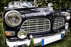 Old vintage VOLVO Amazone 1964. Back in time with Volvo at an exhibition Royalty Free Stock Images