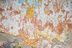 Old vintage wall texture, colorful texture Stock Image
