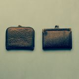 Old vintage wallets Royalty Free Stock Photography