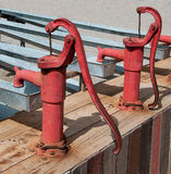 The Old vintage water pump Royalty Free Stock Photos