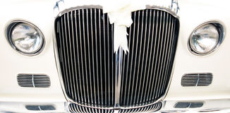 Old vintage wedding car Royalty Free Stock Image
