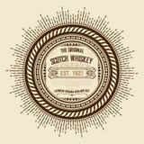 Old vintage whiskey label. Design Stock Image