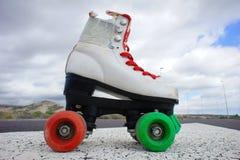 Old Vintage White Skate Boot Stock Photo