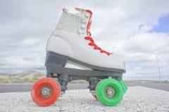Old Vintage White Skate Boot Stock Image