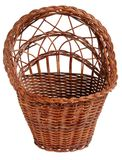 Old vintage wicker basket. Royalty Free Stock Images
