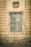 Old vintage window with bar Stock Image