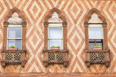 Old vintage window at Venice. Royalty Free Stock Photo