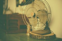 Old Vintage Wire Fan GE Rustic 2 Royalty Free Stock Images
