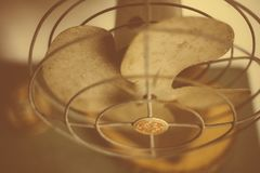 Old Vintage Wire Fan GE Rustic Royalty Free Stock Image