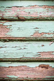 Old vintage wood crack turquoise paint door, window, table rough Royalty Free Stock Images