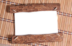 Old vintage wood frame Royalty Free Stock Images