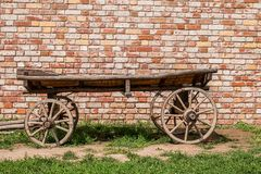 Old vintage wooden cart. Traditional wooden cart Stock Images