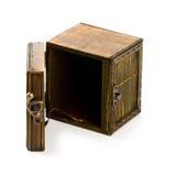 Old vintage wooden casket Royalty Free Stock Images