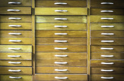 Old vintage wooden chest of drawers Royalty Free Stock Photography