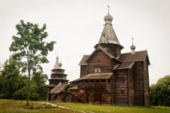 Old vintage wooden churches in Novgorod Stock Image