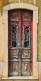 Old vintage wooden door Stock Photography