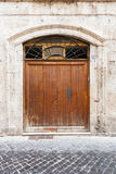 Old vintage wooden door Stock Image