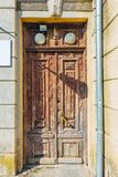 Old vintage door of old mansion royalty free stock photography