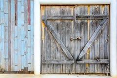 Old vintage wooden door Stock Photos