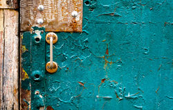 The old vintage wooden doors with doorknob Royalty Free Stock Images