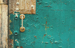 The old vintage wooden doors with doorknob Stock Photography