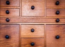 Old vintage wooden drawers Stock Image