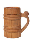 Old vintage wooden mug Stock Photo