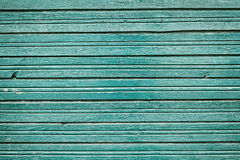 Old vintage wooden planks with blue color paint, rustic wall wood for background Royalty Free Stock Images