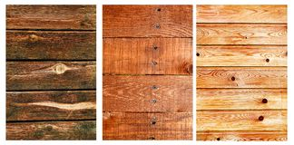 Wooden Texture Set Royalty Free Stock Images