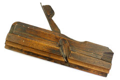 Old vintage wooden rabbet plane Stock Image