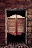 Old vintage wooden saloon doors Stock Photography
