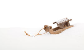 Old vintage wooden sled Royalty Free Stock Image