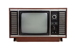 Old vintage wooden television Stock Images