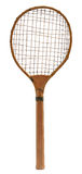 Old vintage wooden tennis racket Royalty Free Stock Photos