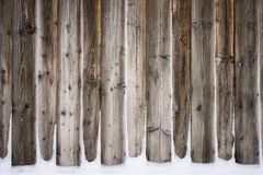 Old vintage wooden wall with snow. Winter and christmas background. Old vintage wood wall with snow. Winter and christmas background. Wood planks, boards are stock image