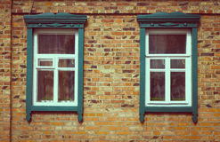 Old vintage wooden window Royalty Free Stock Photo