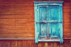 Old vintage wooden window Stock Photo