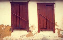 Old vintage wooden window Stock Image